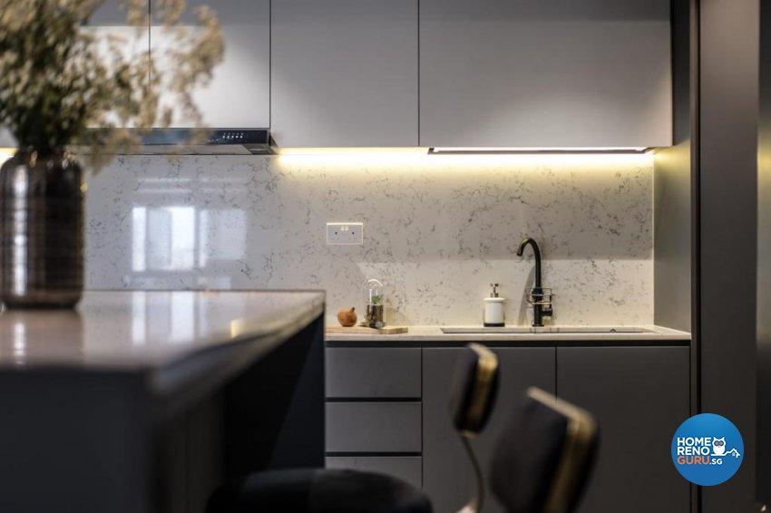 Contemporary, Mediterranean, Modern Design - Kitchen - HDB 5 Room - Design by United Team Lifestyle
