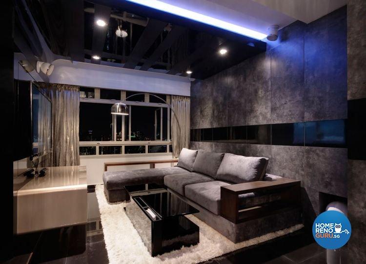 Contemporary, Retro Design - Living Room - HDB 5 Room - Design by Unity Interior design Pte Ltd