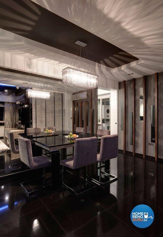 Contemporary, Retro Design - Dining Room - HDB 5 Room - Design by Unity Interior design Pte Ltd