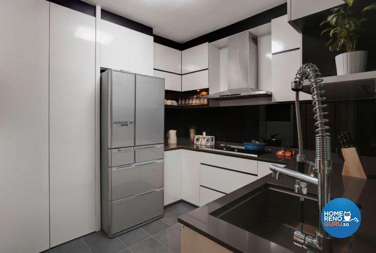 Contemporary, Retro Design - Kitchen - HDB 5 Room - Design by Unity Interior design Pte Ltd