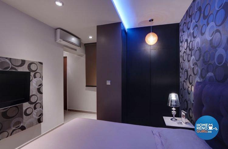 Contemporary, Retro Design - Bedroom - HDB 5 Room - Design by Unity Interior design Pte Ltd
