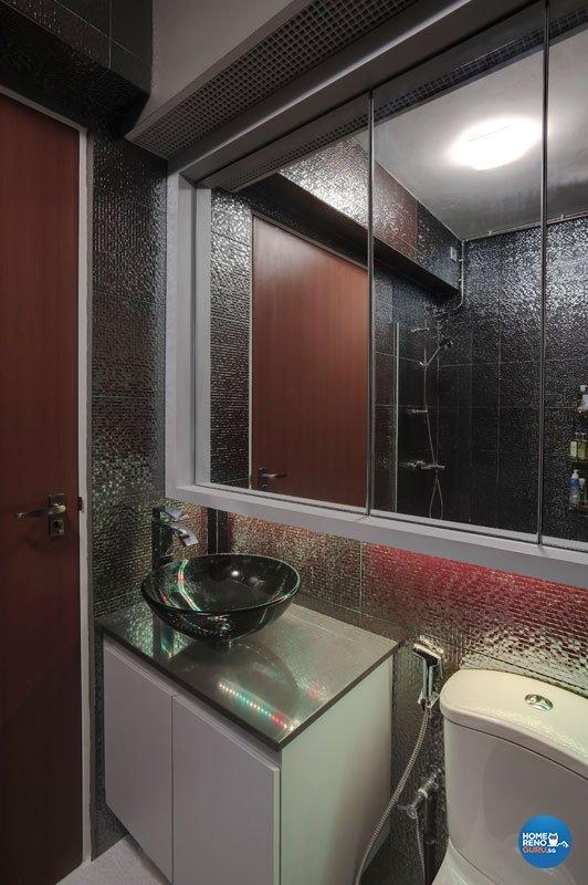 Contemporary, Retro Design - Bathroom - HDB 5 Room - Design by Unity Interior design Pte Ltd