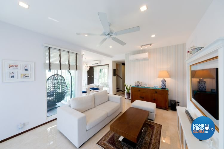 Contemporary, Country, Resort Design - Living Room - Condominium - Design by Unity Interior design Pte Ltd