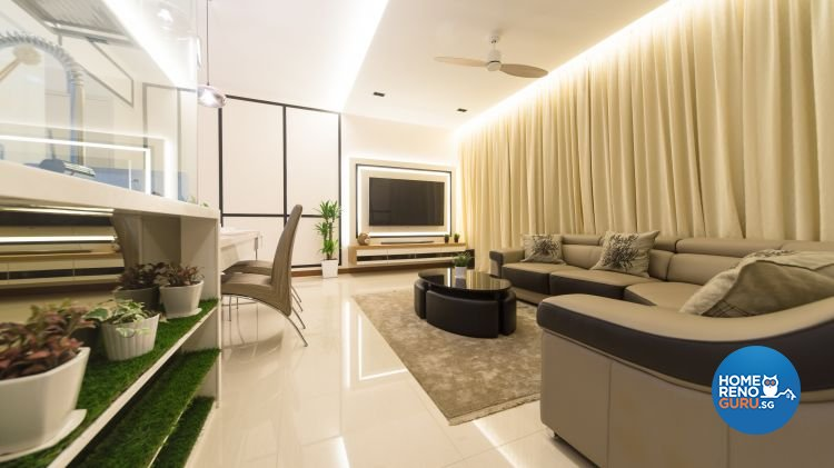 Contemporary, Modern Design - Living Room - Condominium - Design by Unity Interior design Pte Ltd
