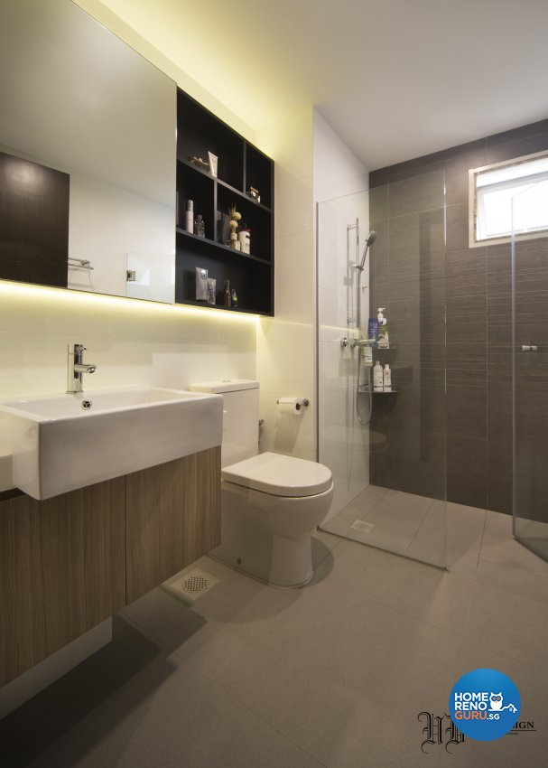 Contemporary Design - Bathroom - Condominium - Design by Urban Design House Pte Ltd