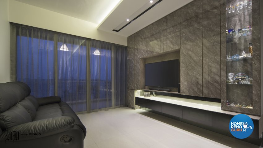 Contemporary Design - Living Room - Condominium - Design by Urban Design House Pte Ltd