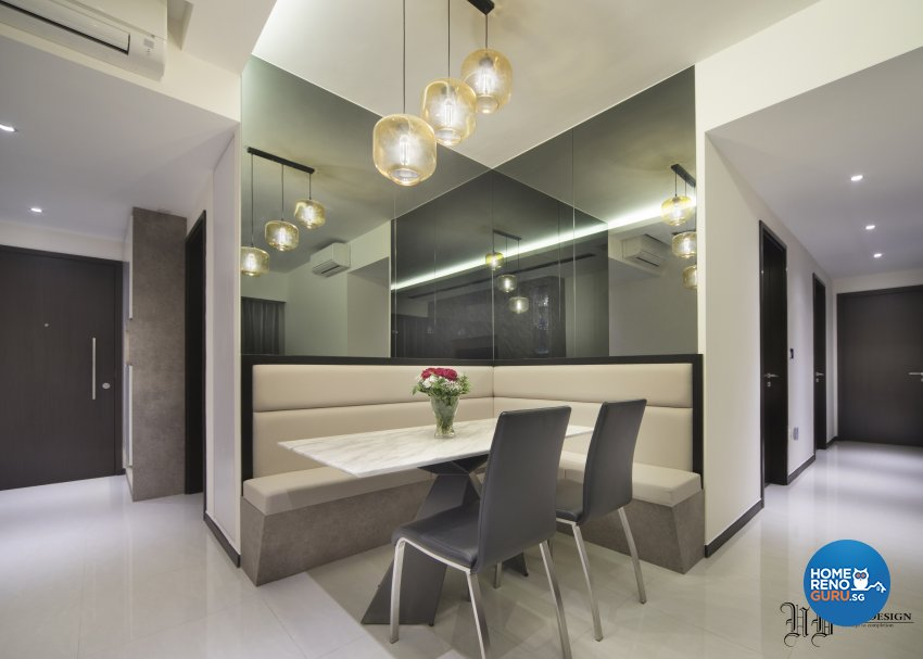 Contemporary Design - Dining Room - Condominium - Design by Urban Design House Pte Ltd
