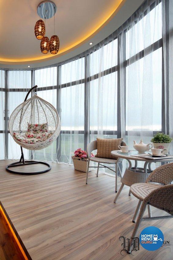 Resort Design - Balcony - Condominium - Design by Urban Design House Pte Ltd
