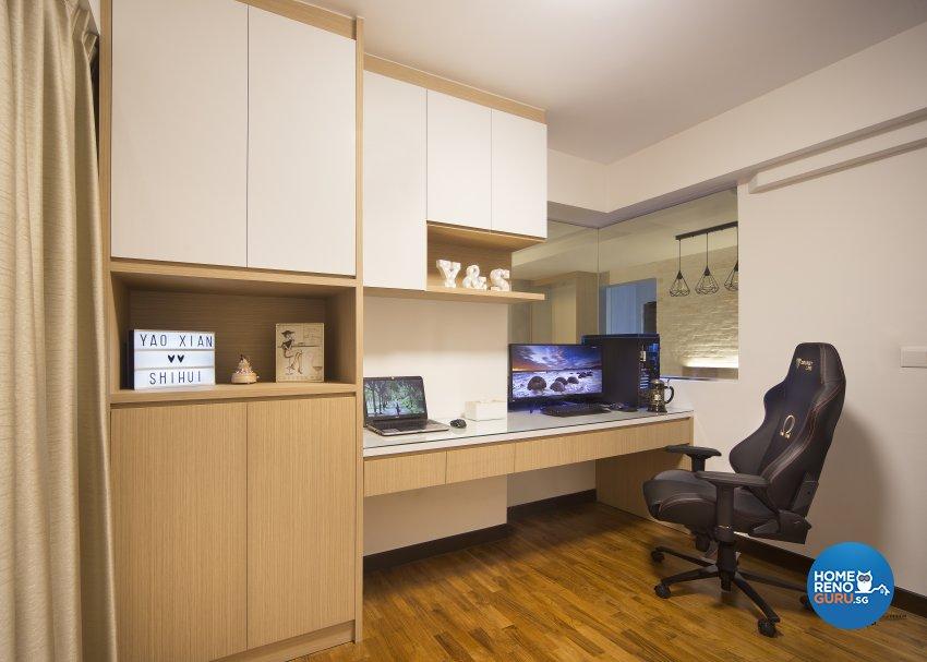 Scandinavian Design - Study Room - HDB 4 Room - Design by Urban Design House Pte Ltd