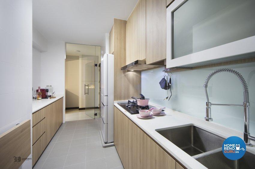 Scandinavian Design - Kitchen - HDB 4 Room - Design by Urban Design House Pte Ltd