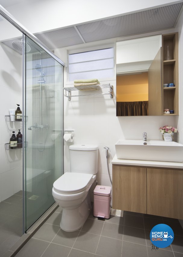 Scandinavian Design - Bathroom - HDB 4 Room - Design by Urban Design House Pte Ltd
