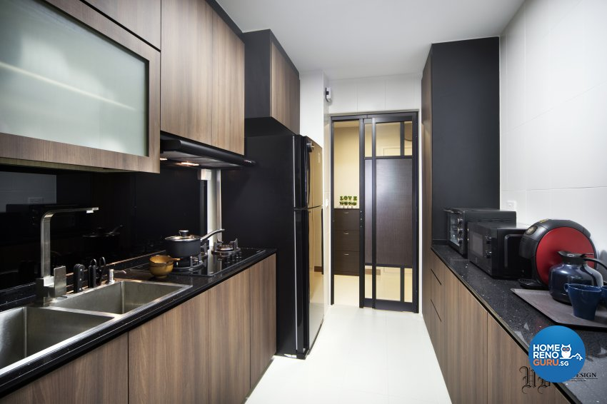 Contemporary, Scandinavian Design - Kitchen - HDB 4 Room - Design by Urban Design House Pte Ltd