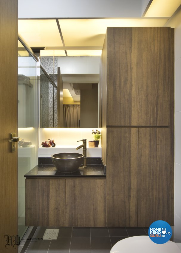 Contemporary, Scandinavian Design - Bathroom - HDB 4 Room - Design by Urban Design House Pte Ltd