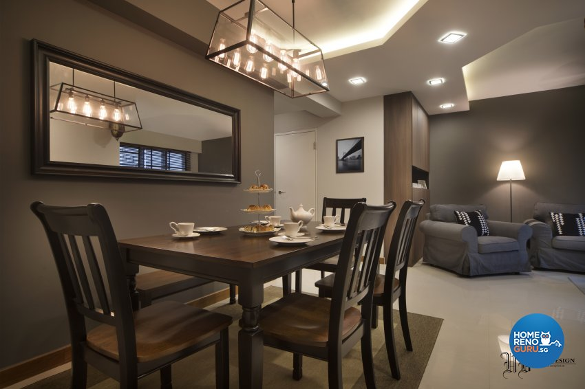 Contemporary, Scandinavian Design - Dining Room - HDB 4 Room - Design by Urban Design House Pte Ltd