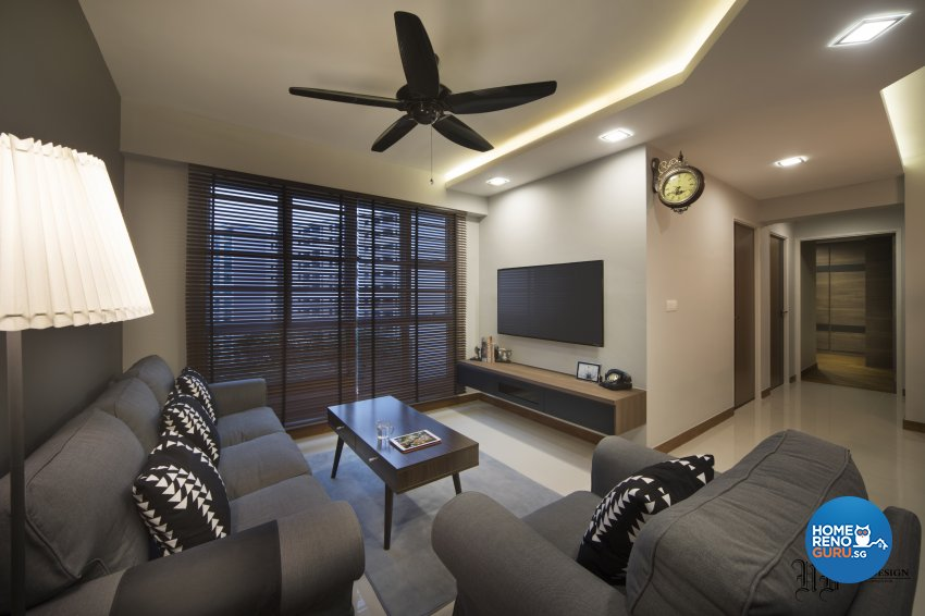 Contemporary, Scandinavian Design - Living Room - HDB 4 Room - Design by Urban Design House Pte Ltd