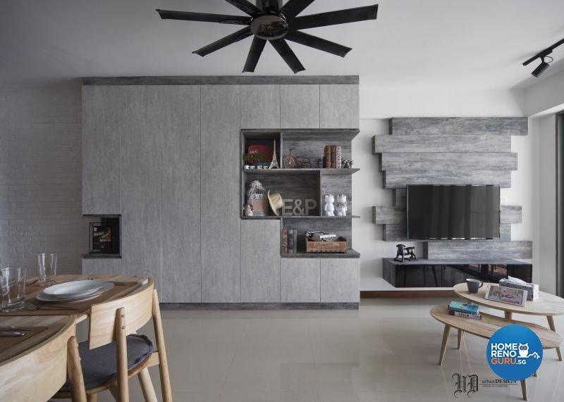 Scandinavian Design - Living Room - HDB 4 Room - Design by Urban Design House Pte Ltd