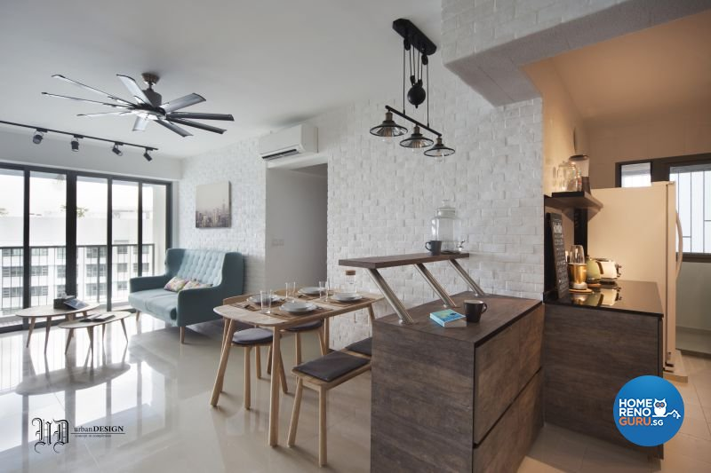 Scandinavian Design - Living Room - HDB 4 Room - Design by Urban Design  House Pte