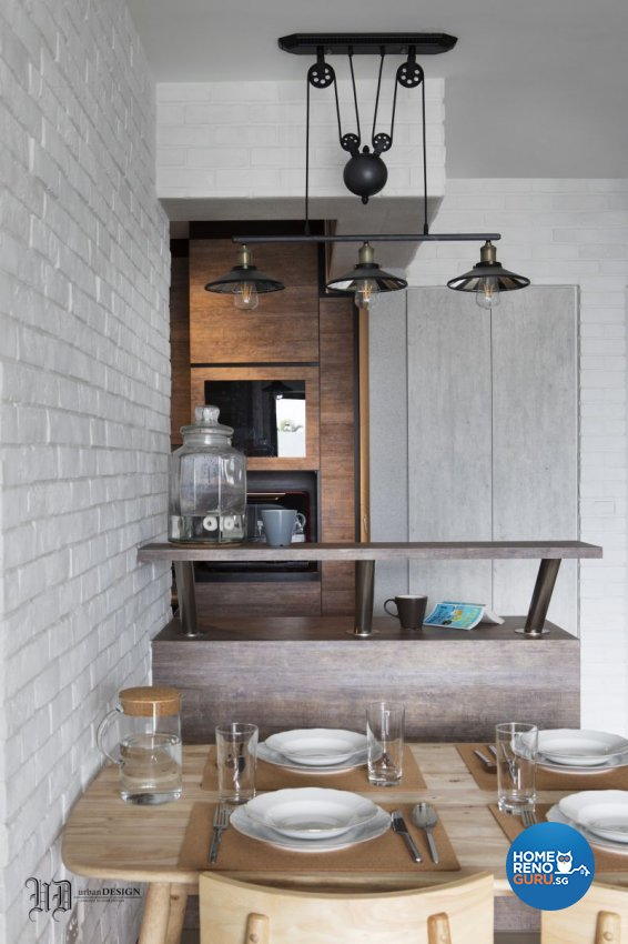 Scandinavian Design - Dining Room - HDB 4 Room - Design by Urban Design House Pte Ltd