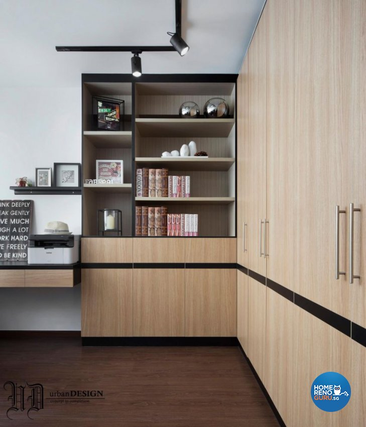 Contemporary Design - Study Room - HDB 5 Room - Design by Urban Design House Pte Ltd