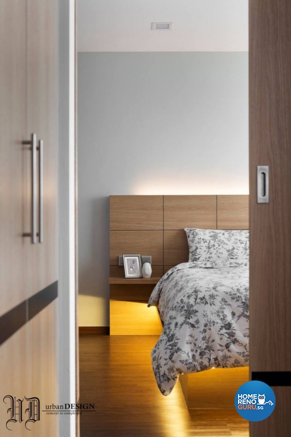 Contemporary Design - Bedroom - HDB 5 Room - Design by Urban Design House Pte Ltd