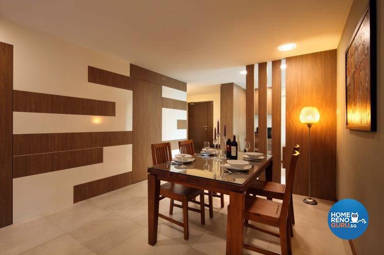 Contemporary, Resort, Rustic Design - Dining Room - HDB 5 Room - Design by Urban Design House Pte Ltd