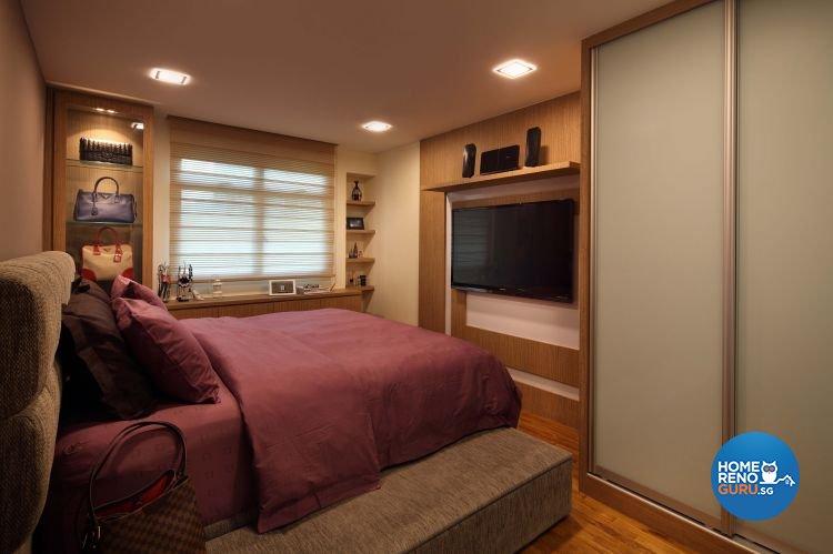 Contemporary, Resort, Rustic Design - Bedroom - HDB 5 Room - Design by Urban Design House Pte Ltd