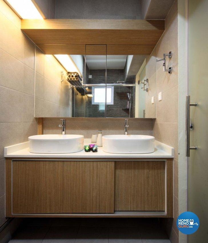 Contemporary, Resort, Rustic Design - Bathroom - HDB 5 Room - Design by Urban Design House Pte Ltd