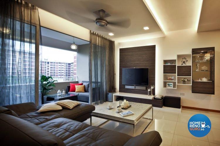Minimalist, Modern Design - Living Room - Condominium - Design by Urban Design House Pte Ltd