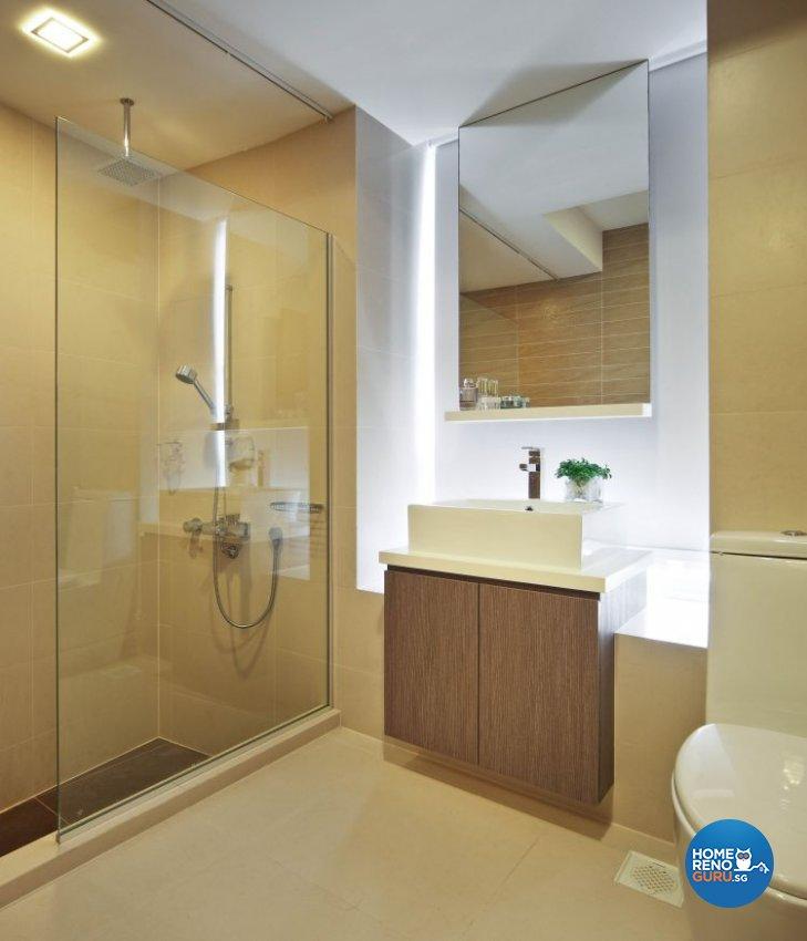 Minimalist, Modern Design - Bathroom - Condominium - Design by Urban Design House Pte Ltd