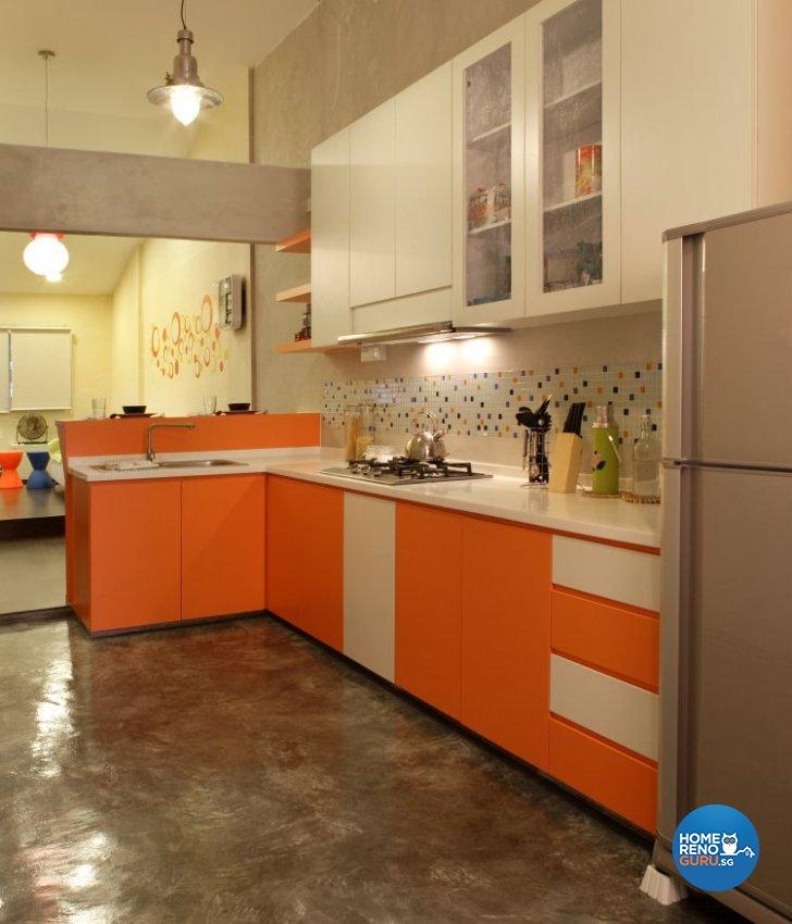 Classical, Contemporary, Retro Design - Kitchen - HDB 3 Room - Design by Vegas Interior Design Pte Ltd