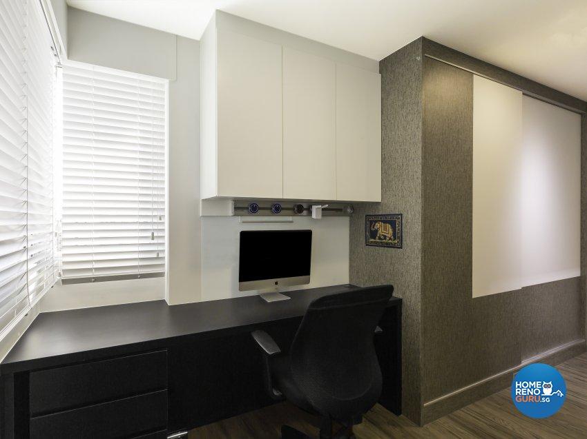 Modern, Resort Design - Study Room - HDB 4 Room - Design by Vegas Interior Design Pte Ltd