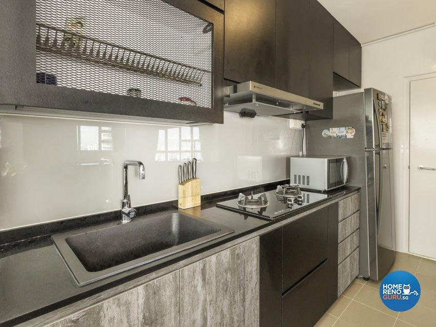 Modern, Resort Design - Kitchen - HDB 4 Room - Design by Vegas Interior Design Pte Ltd