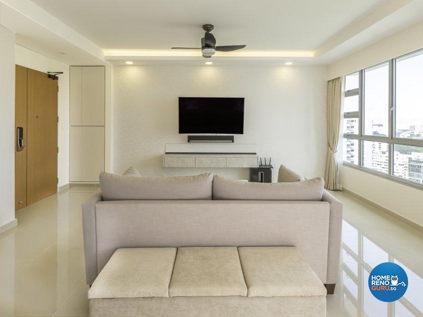 Modern, Resort Design - Living Room - HDB 4 Room - Design by Vegas Interior Design Pte Ltd