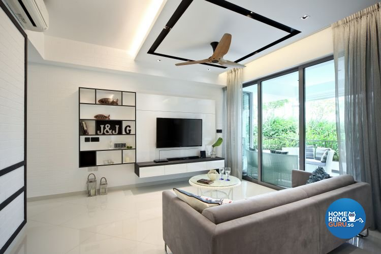 Minimalist, Modern Design - Living Room - Condominium - Design by Vegas Interior Design Pte Ltd