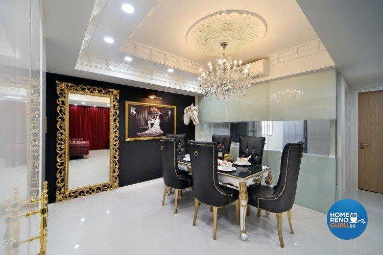 Classical, Modern, Victorian Design - Dining Room - Condominium - Design by Vegas Interior Design Pte Ltd