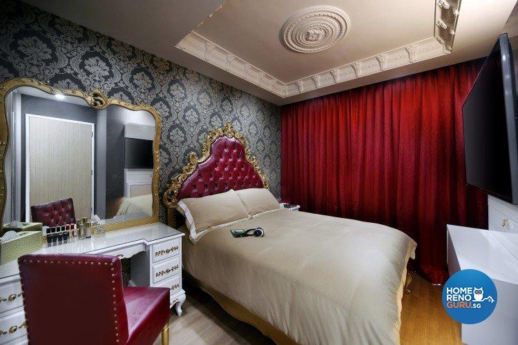 Classical, Modern, Victorian Design - Bedroom - Condominium - Design by Vegas Interior Design Pte Ltd