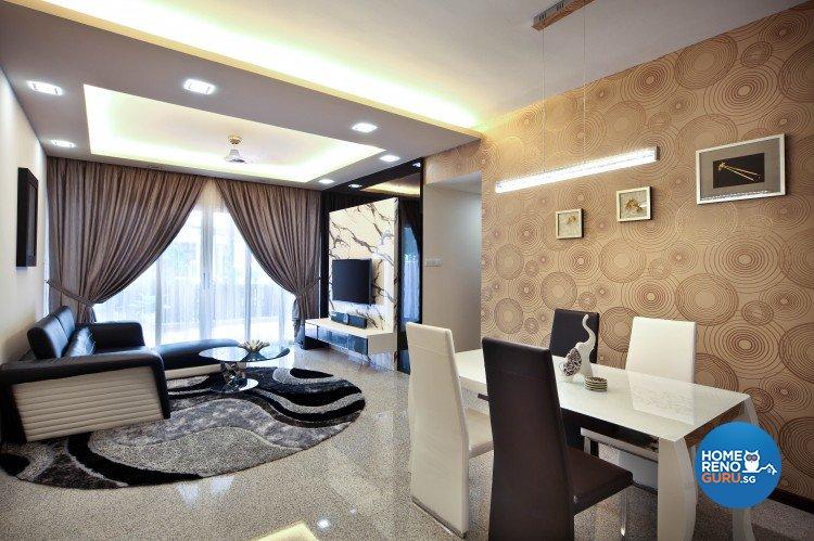 Contemporary, Minimalist, Retro Design - Dining Room - Condominium - Design by Vegas Interior Design Pte Ltd