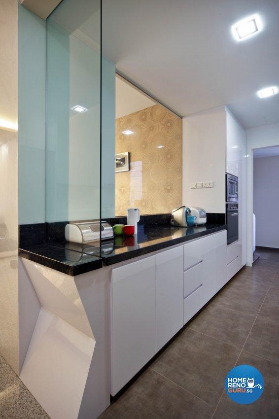 Contemporary, Minimalist, Retro Design - Kitchen - Condominium - Design by Vegas Interior Design Pte Ltd
