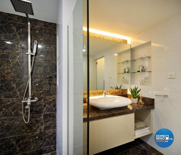 Contemporary, Minimalist, Retro Design - Bathroom - Condominium - Design by Vegas Interior Design Pte Ltd