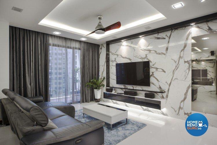 Contemporary, Modern Design - Living Room - Condominium - Design by Vegas Interior Design Pte Ltd