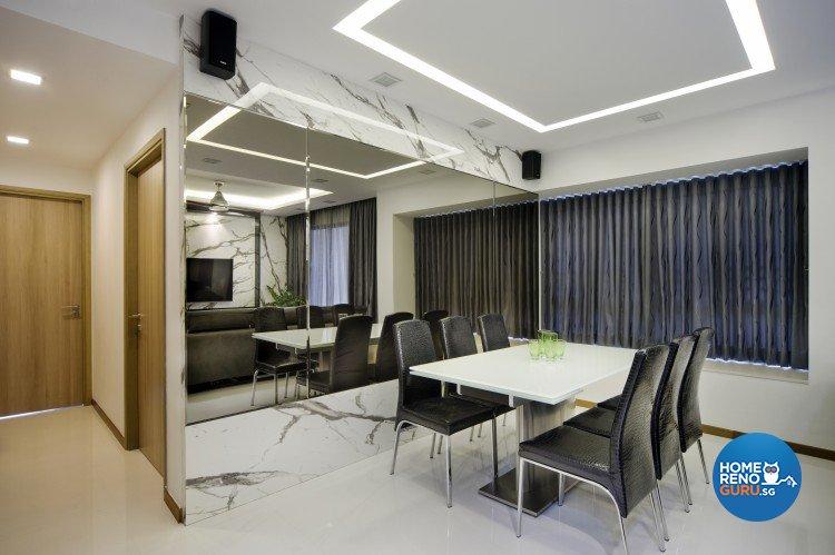 Contemporary, Modern Design - Dining Room - Condominium - Design by Vegas Interior Design Pte Ltd