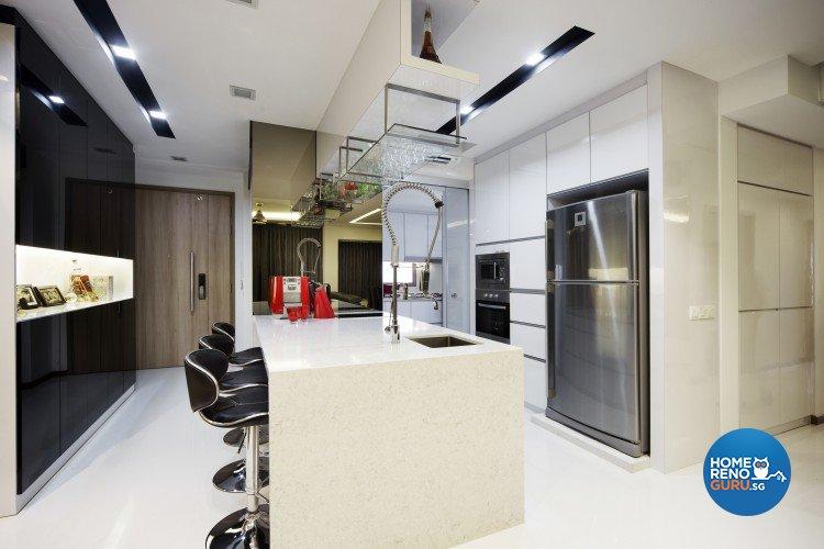 Contemporary, Modern Design - Kitchen - Condominium - Design by Vegas Interior Design Pte Ltd