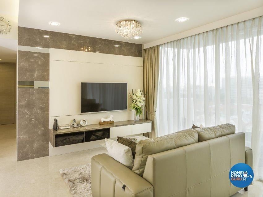 Modern Design - Living Room - Condominium - Design by Vegas Interior Design Pte Ltd