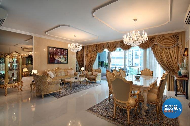 Classical, Modern, Vintage Design - Dining Room - Condominium - Design by Vegas Interior Design Pte Ltd