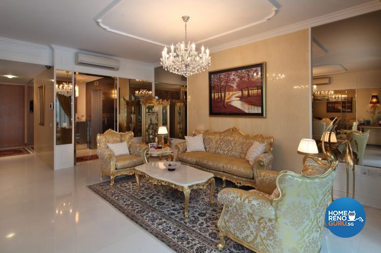 Classical, Modern, Vintage Design - Living Room - Condominium - Design by Vegas Interior Design Pte Ltd