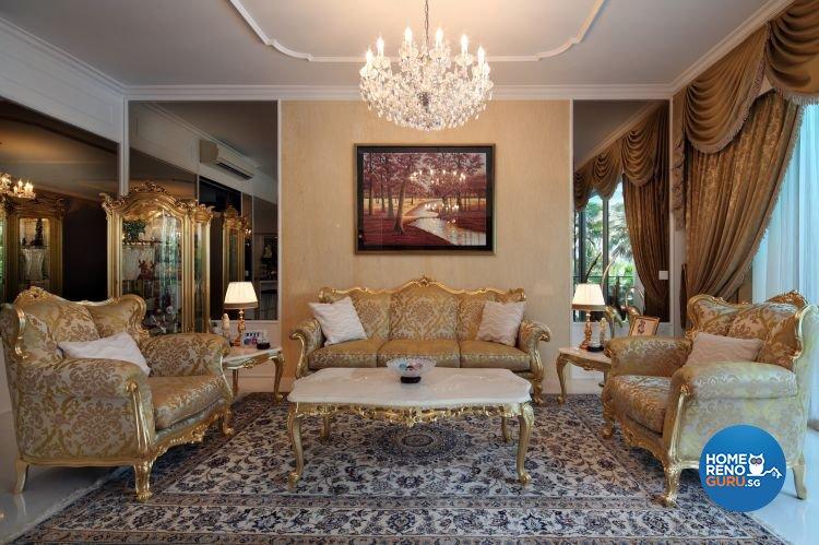 Classical, Modern, Vintage Design - Living Room - Condominium - Design by Vegas Interior Design Pte Ltd