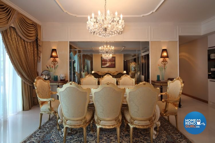 Classical, Modern, Vintage Design - Dining Room - Condominium - Design by Vegas Interior Design Pte Ltd