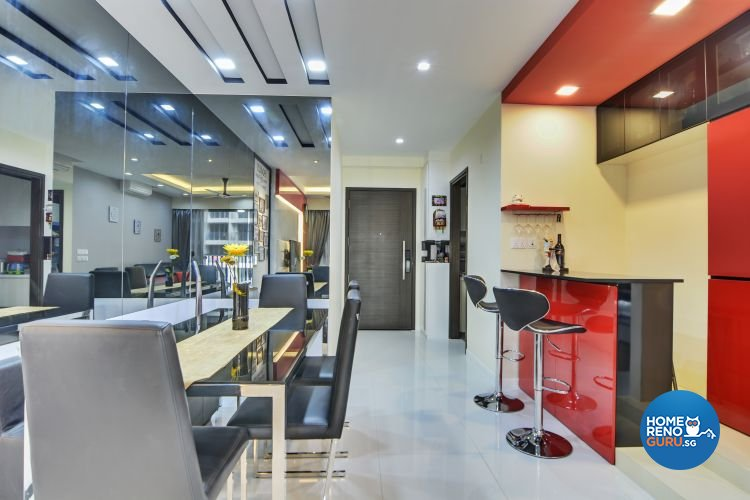 Contemporary, Modern Design - Dining Room - Condominium - Design by Vegas Interior Design Pte Ltd
