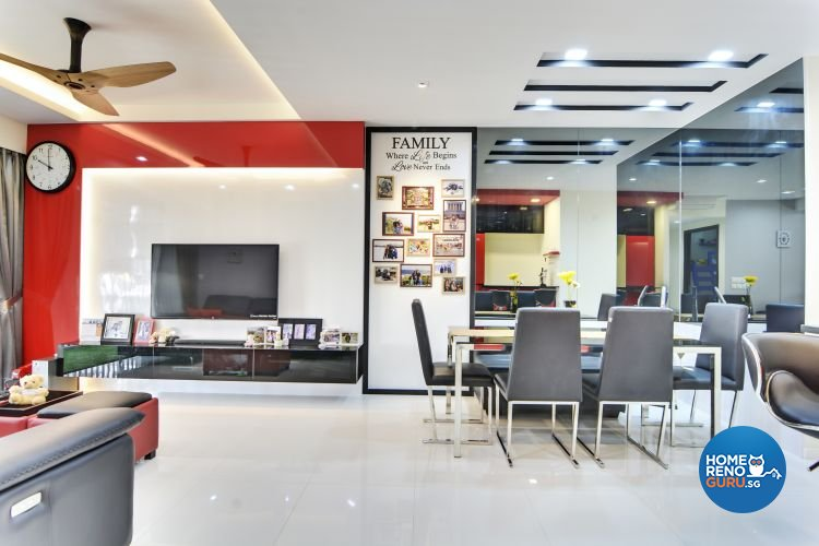 Contemporary, Modern Design - Living Room - Condominium - Design by Vegas Interior Design Pte Ltd