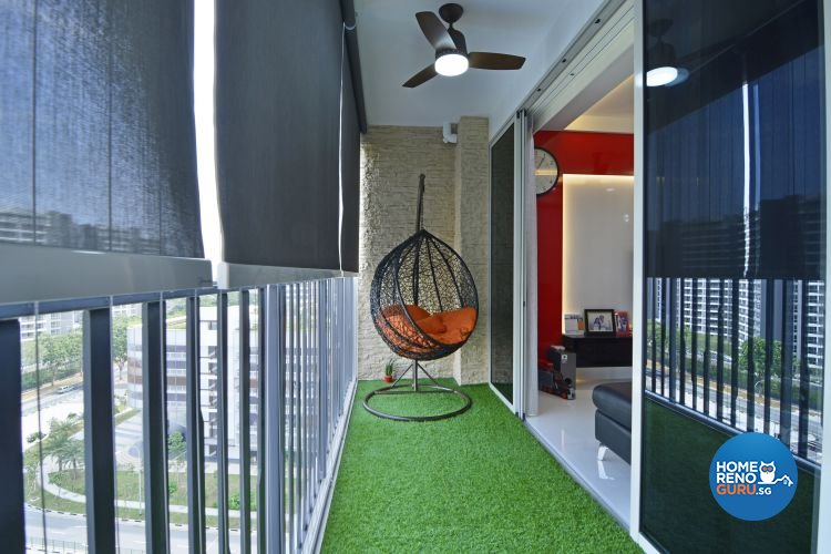 Contemporary, Modern Design - Balcony - Condominium - Design by Vegas Interior Design Pte Ltd